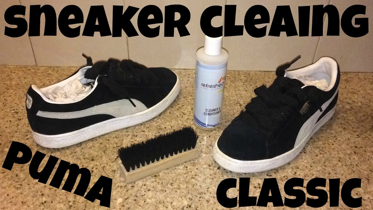 1276e36c9bf9 Sneaker Cleaning for Classic Suede Pumas - YouTube