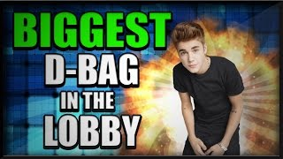 BIGGEST D-BAG IN THE LOBBY! TROLLING GIRLS!