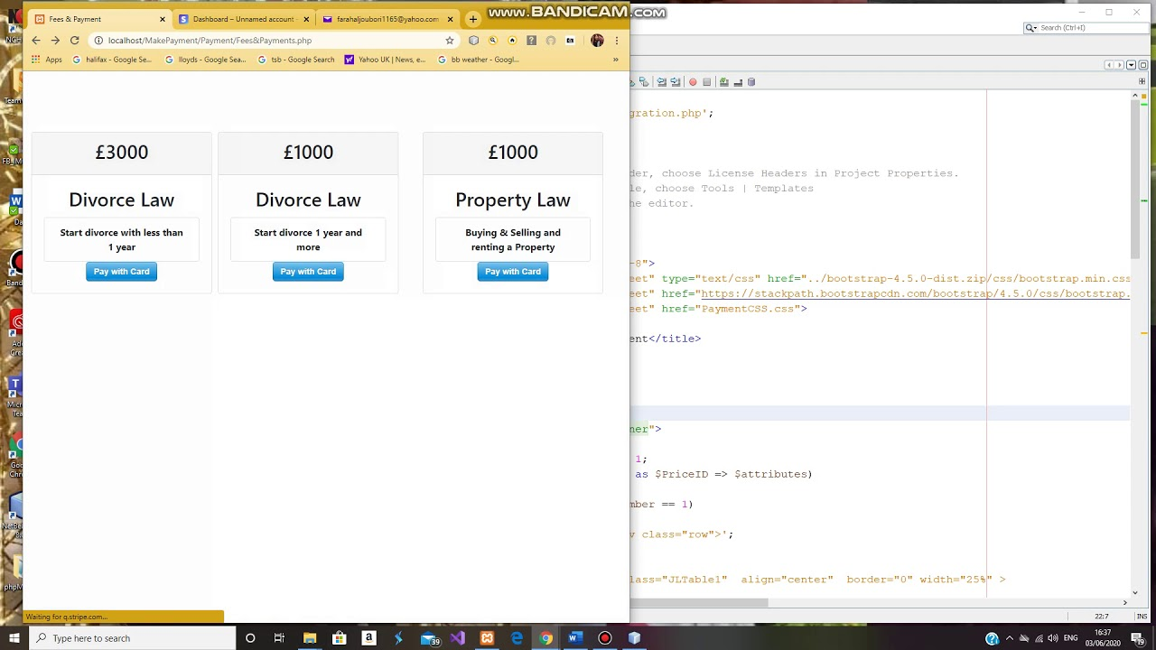 payment form html5