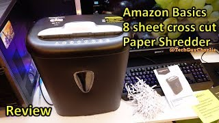 Amazon Basics 8 sheet cross cut paper and credit card shredder review
