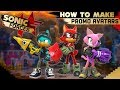 Sonic Forces - HOW TO MAKE PROMO AVATARS! (Character Creation + Gameplay!)