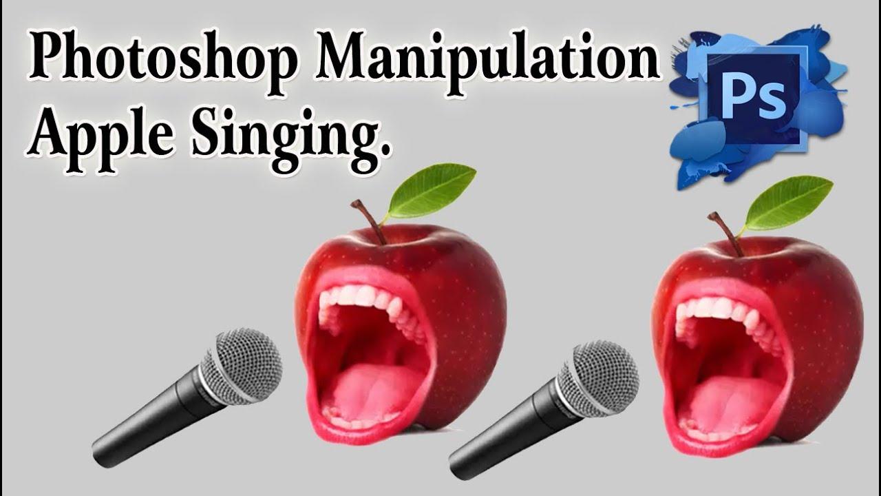 photoshop manipulation apple singing youtube. Black Bedroom Furniture Sets. Home Design Ideas