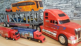 Toy Cars Transportation by Truck with Fastline Truck video for Kids