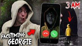 CALLING GEORGIE FROM 'IT' ON FACETIME AT 3AM!! *HE CAME TO ME*