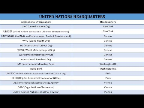 UNITED NATIONS AND THEIR HEADQUARTERS