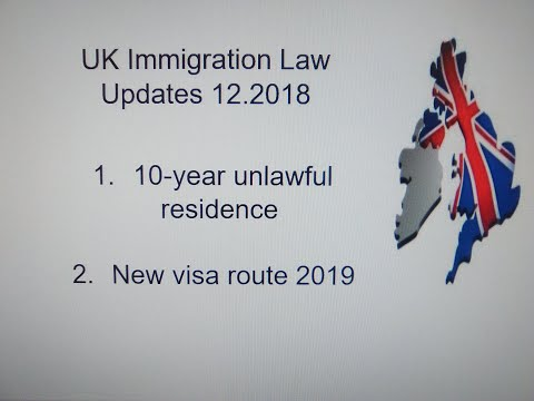 New UK Visa Routes, Scam text Message - UK Immigration law Updates December 2018