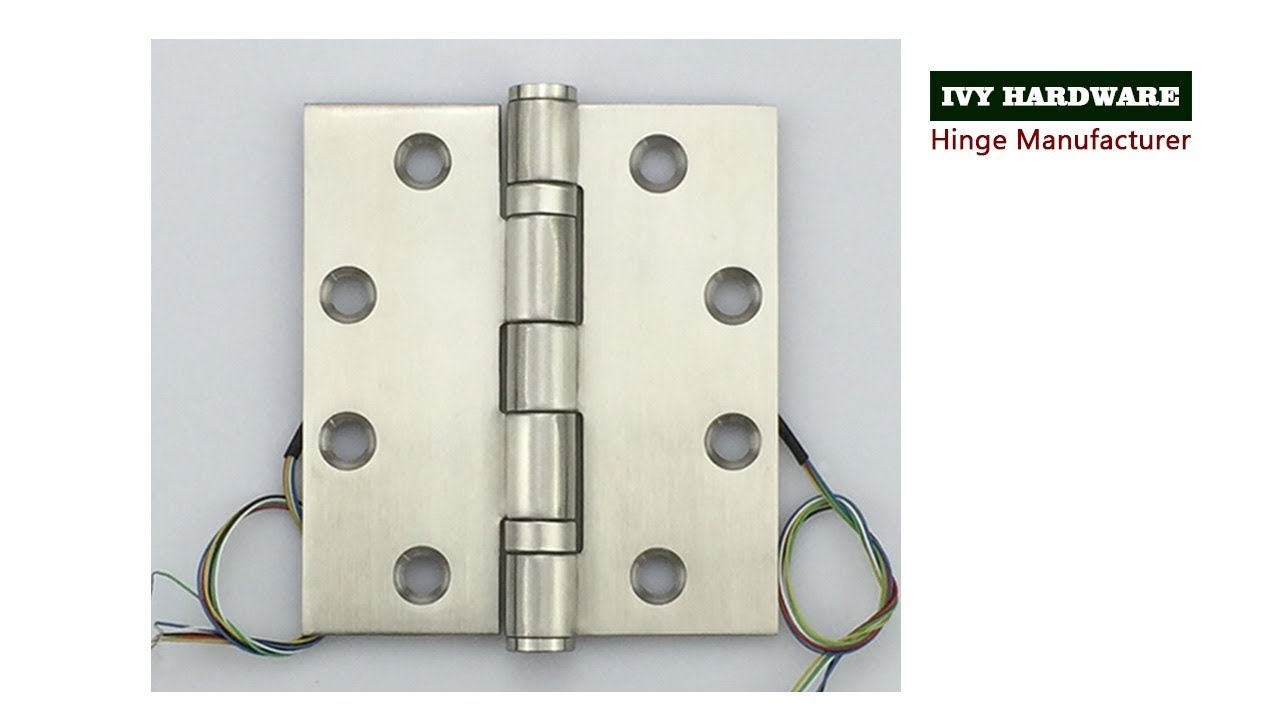 Stainless steel concealed circuit electric hinge residential and commercial  flexible connector hinge