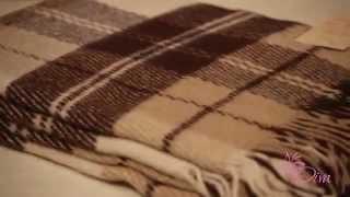 Купить плед шерстяной Эльф белый бежевый коричневый №2 обзор