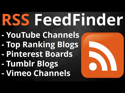"""RSS Feed Finder - How to find """"Authority"""" RSS Feeds easy!"""