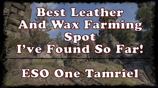 ESO | Best Wax And Leather Farming Spot I've Found So Far