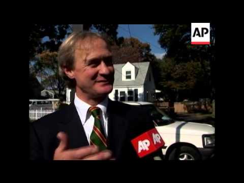 t's a hard fought campaign in Rhode Island for Republican Senator Lincoln Chafee due to strong oppos