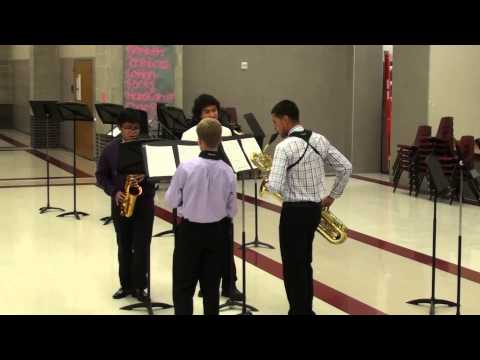 LHS Wind Symphony Saxophone Quartet - Fugue in G Minor by Bach