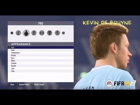 FIFA 18 Pro Clubs Game Face Kevin De Bruyne Look Alike