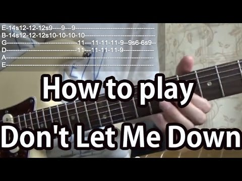 how to play don 39 t let me down the beatles guitar tutorial with tabs youtube. Black Bedroom Furniture Sets. Home Design Ideas