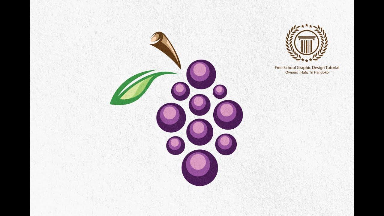 How to Design a Grape Logo in Adobe illustrator CS6 ...