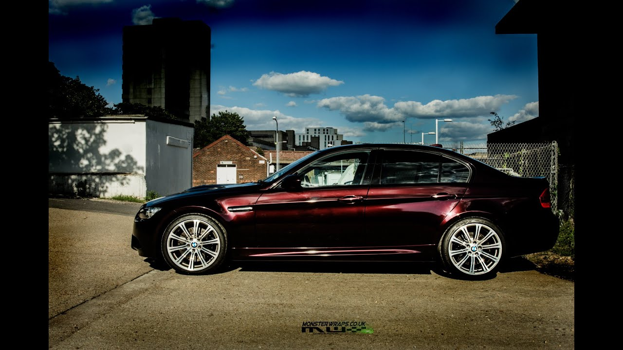 Monsterwraps Black Rose Bmw M3 Car Wrap 3m 1080 Car