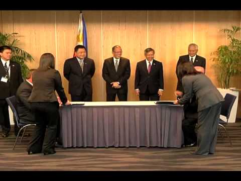 Signing of Memorandum of Understanding 10/23/2012