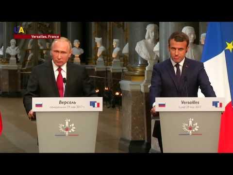 Macron Discusses Ukraine During Putin's Versailles Visit