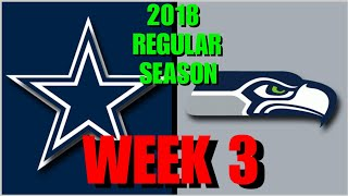 ☆**LIVE STREAM** Reaction ☆ 2018 GAME 3: Dallas Cowboys @ Seattle Seahawks [+Post-Game RoundTable!]