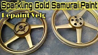 Sparkling Gold Samurai Paint || Repaint Velg