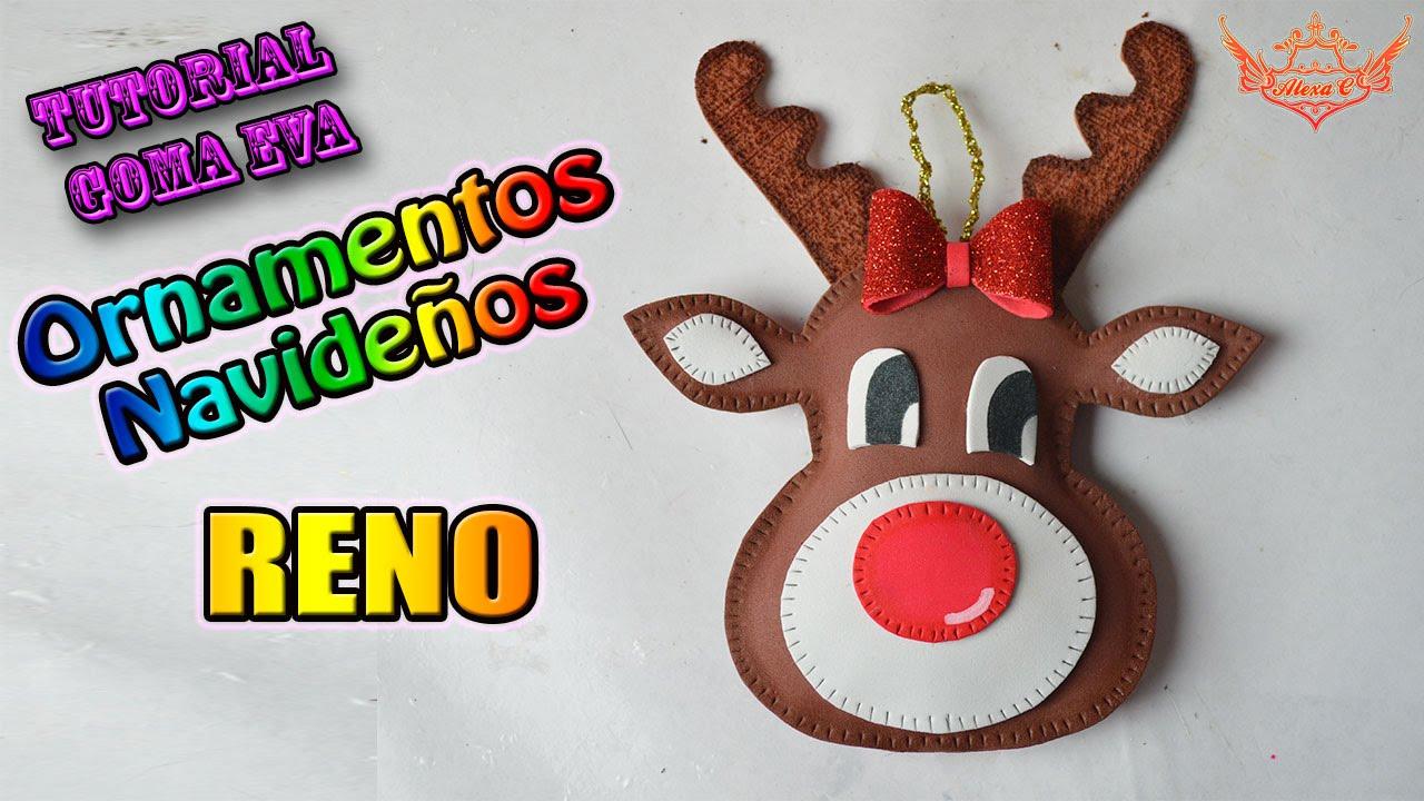 Tutorial Navidad Ornamentos para el rbol RENO de Goma Eva