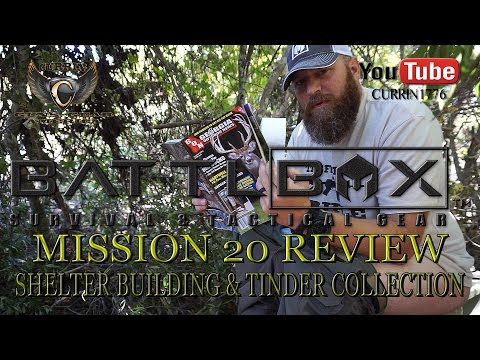 """BattlBox Review Mission 20 """"Shelter Building & Tinder Collection"""""""