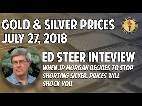 Gold & Silver Prices for July 27 2018 + Ed Steer Interview