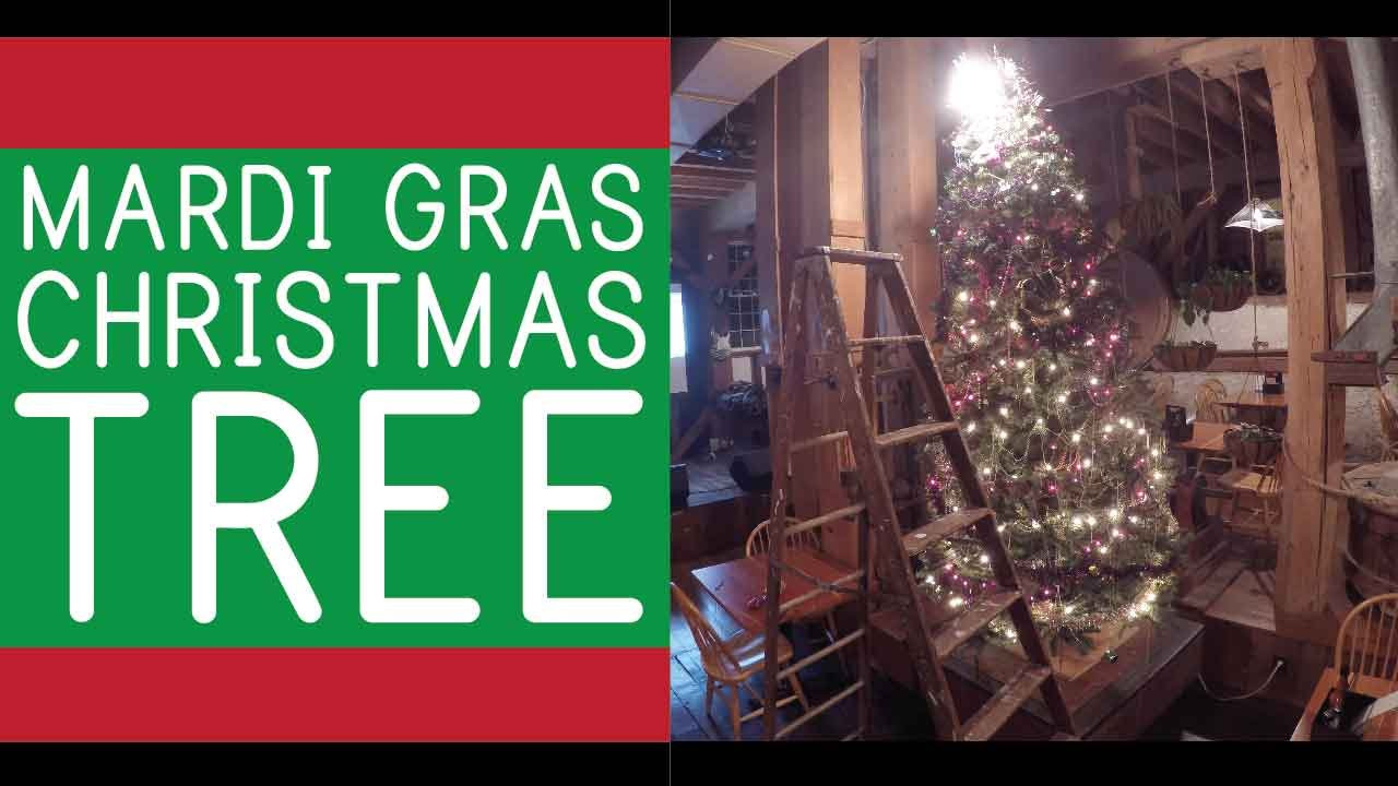 cajun christmas mari gras tree decorating
