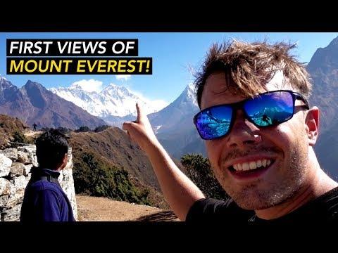 First View Of Mount Everest From Namche Bazaar Hotel - Everest Base Camp Trek Day 3