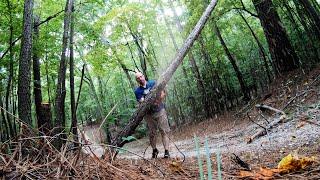 Ремонт Дороги к Участку После Большого Шторма Садовым Трактором John Deer Гринвилл Южная Каролина