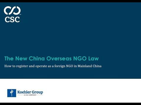 On Demand Webinar - The New China Overseas NGO Law