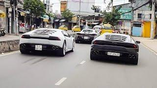 Cường Đô La cùng dàn Lamborghini khuấy động Sài Gòn cuối tuần | XSX
