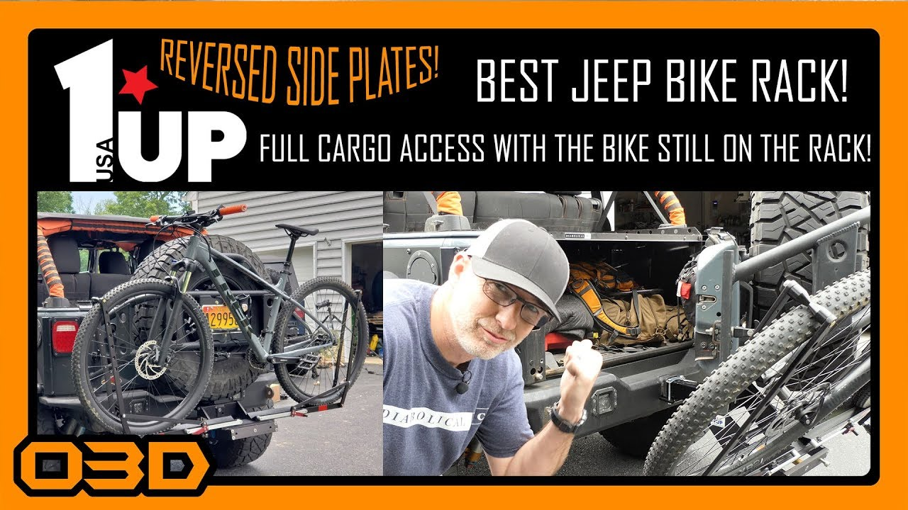 best jeep bike rack 1up usa with reversed side plates full cargo access