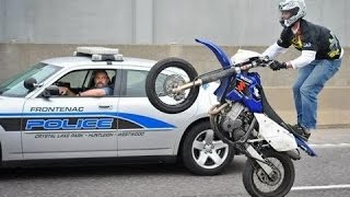 Police VS Moto - Police CHASE Motorcycle Cops Riding WHEELIES - Compilation 2015