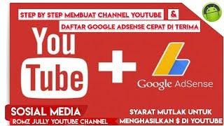 Step By Step Membuat Channel Youtube & Cara Mendaftar Google Adsense Cepat Di Terima