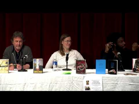 Chris Lynch, Caragh O'Brien, Jason Reynolds at Eastern Connecticut State University 1/15/15