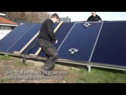 How to exchange the foil in solar collectors from Arcon Sunmark