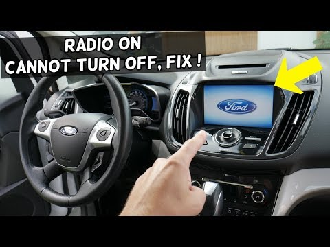Ford C Max Radio Is On All The Time Cannot Turn Radio Off Fix Youtube