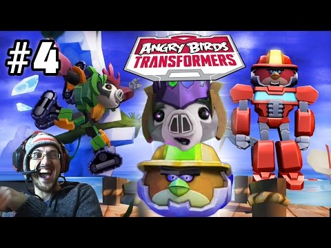 Lets Play Angry Birds Transformers Part 4: 600 Pigs Killed! Bludgeon & Heatwave Join the Team!
