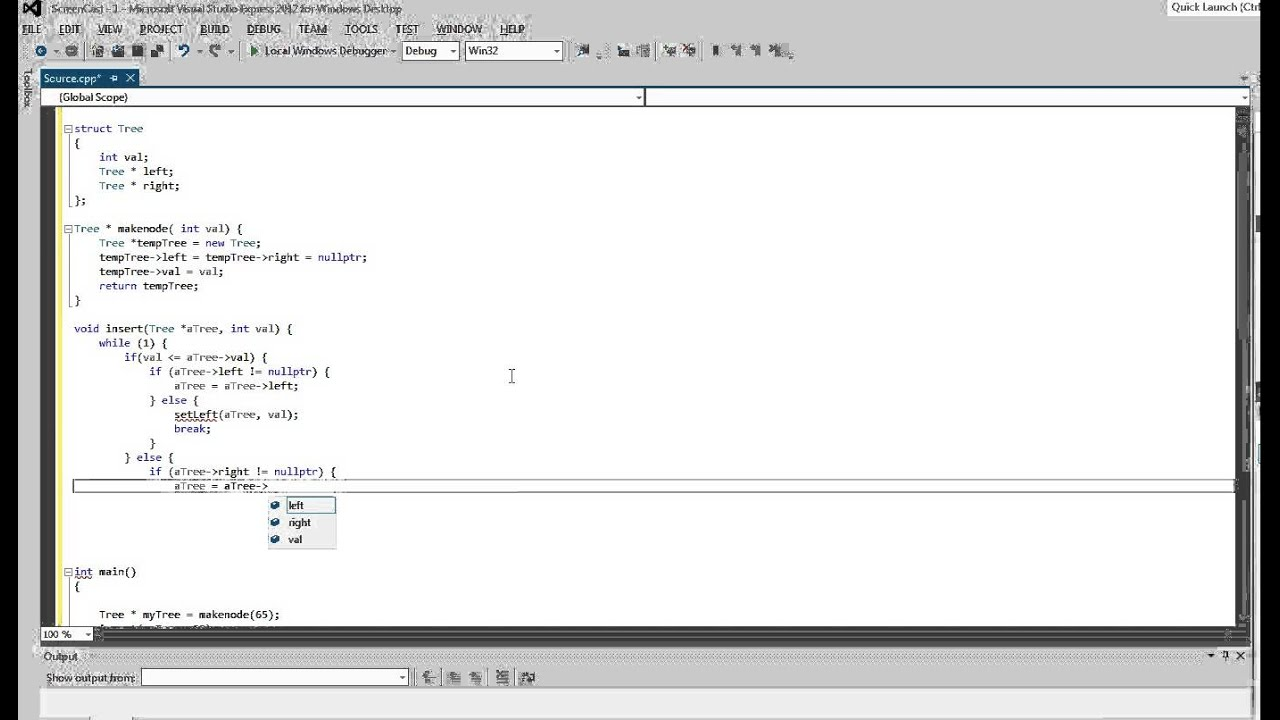 Binary Search Tree C C++ Code