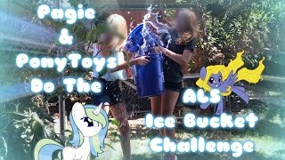 PAGIE&PONY TOYS DO THE ICE BUCKET CHALLENGE|SEE OUR FACES?!?