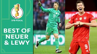 The best fifa men's goalkeeper manuel neuer and player robert lewandowski delivered saves, goals, memorable moments in dfb-pokal....