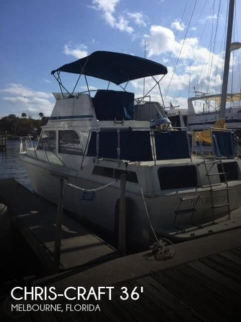 Sold Used 1986 Chris Craft Catalina 362 In Melbourne Florida Youtube