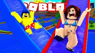 MY BOYFRIEND ALMOST KILLED ME IN THE SUPER RADICAL SLIDES OF ROBLOX!