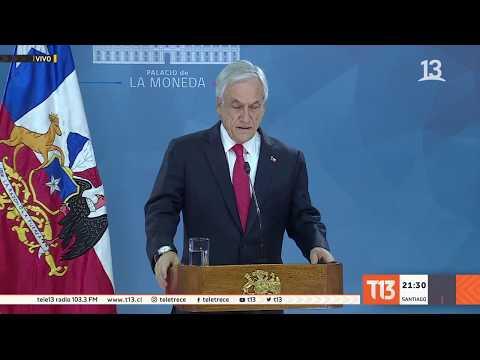 Presidente Piñera anuncia