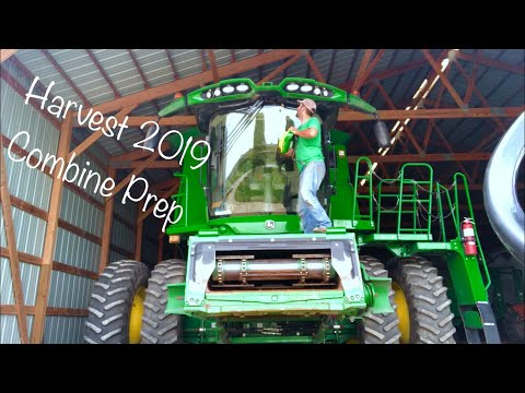Getting The Combine Ready For Harvest
