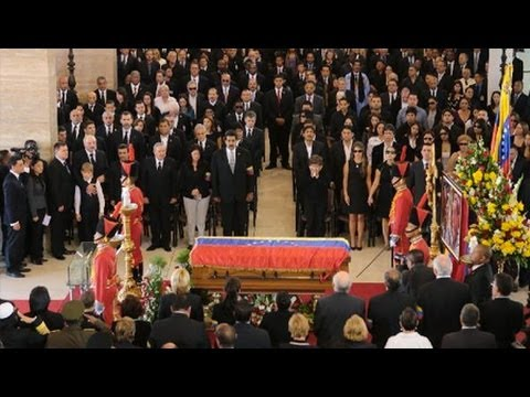 World Leaders Pay Their Final Respects at Chavez's Funeral