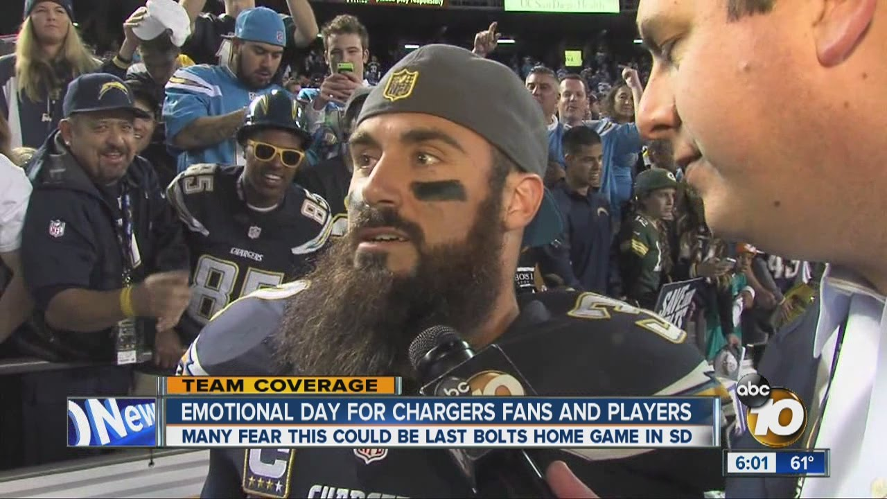 Eric Weddle explains emotions at possible last home game in San