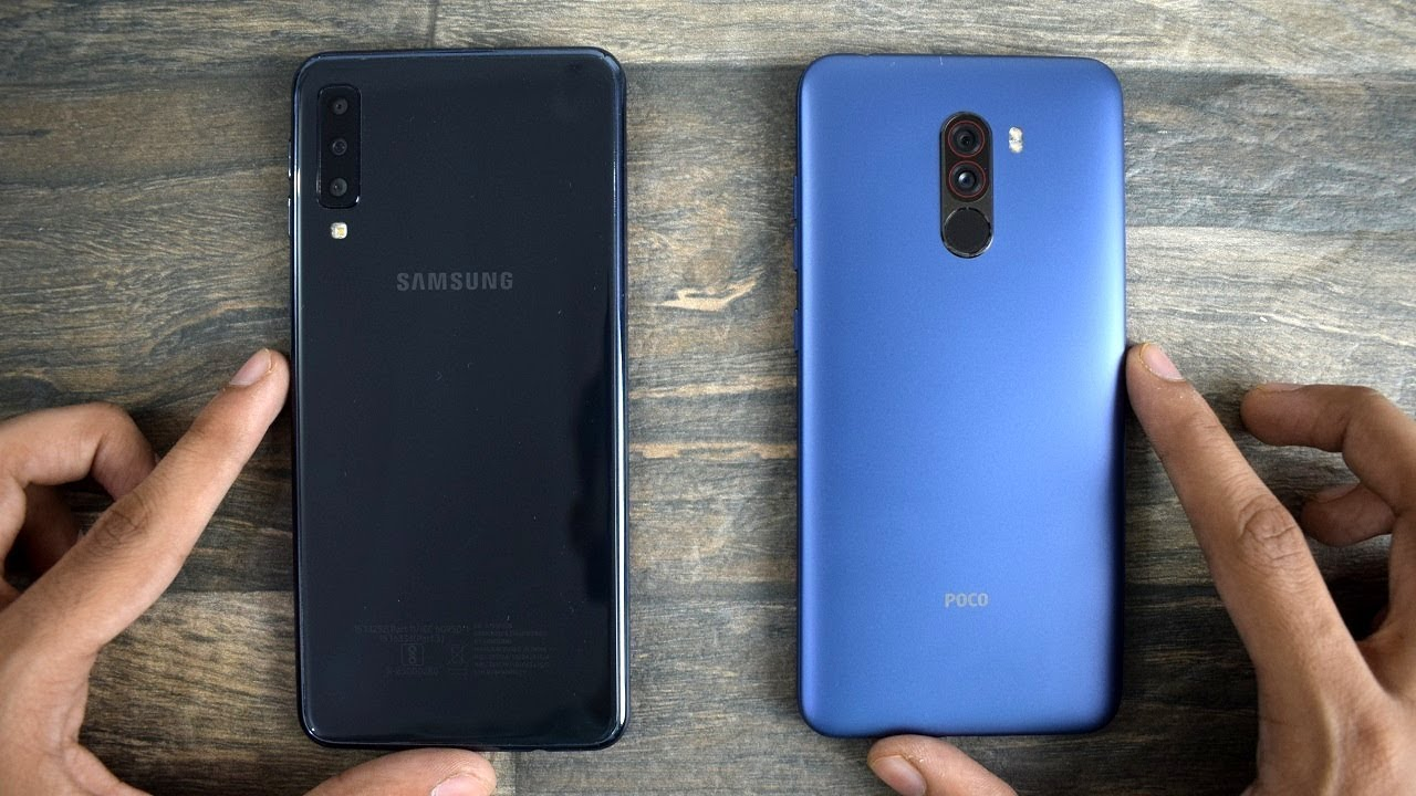 samsung galaxy a7 2018 vs pocophone f1 speed test. Black Bedroom Furniture Sets. Home Design Ideas