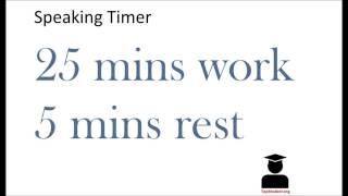 Speaking Pomodoro Timer (25 min work, 5 mins rest)